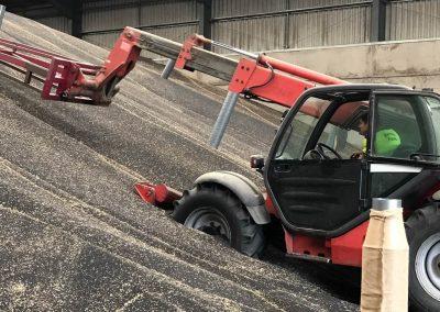 Grain storage capacity of 25,000 tonnes